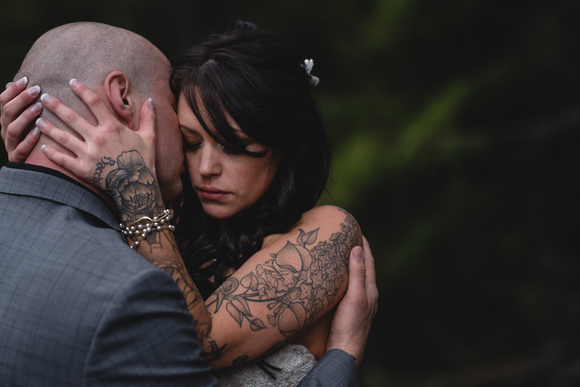 tattoo bride and groom in whistler