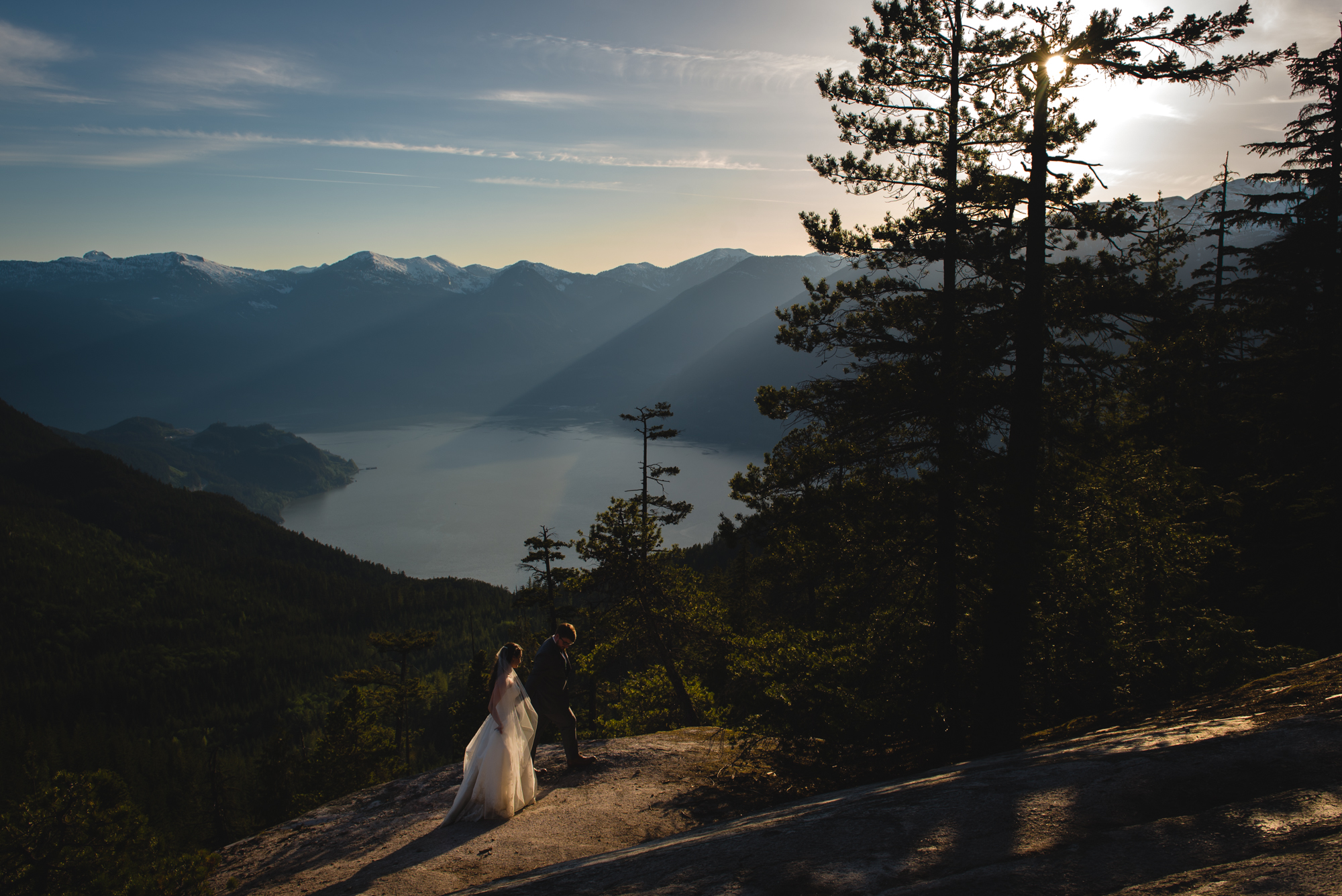 sea to sky gondola wedding sunset summer