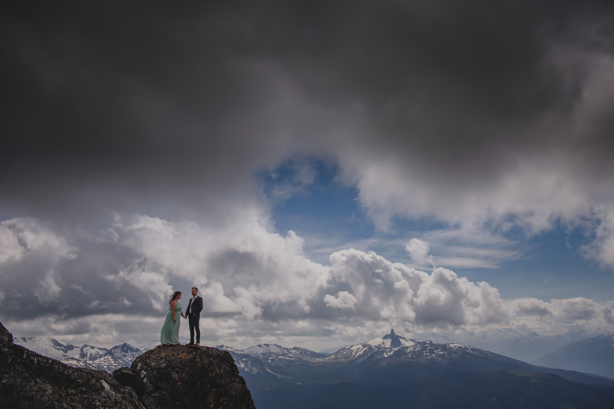 whistler blackcomb engagement photography at the peak