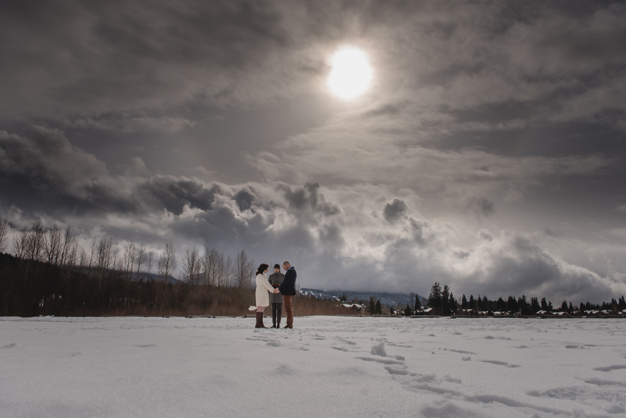 whistler elopement winter ceremony